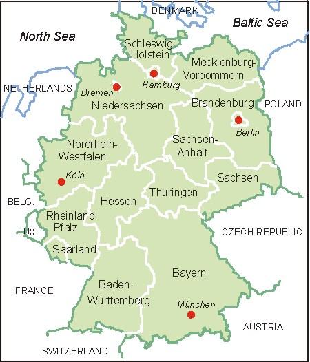 Deutschland Karte Map Of Germany