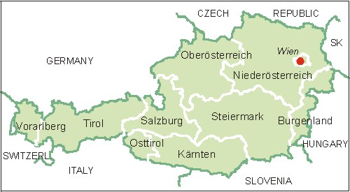 Osterreich Karte Map Of Austria